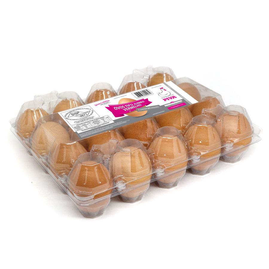 Ovos tipo jumbo vermelho
