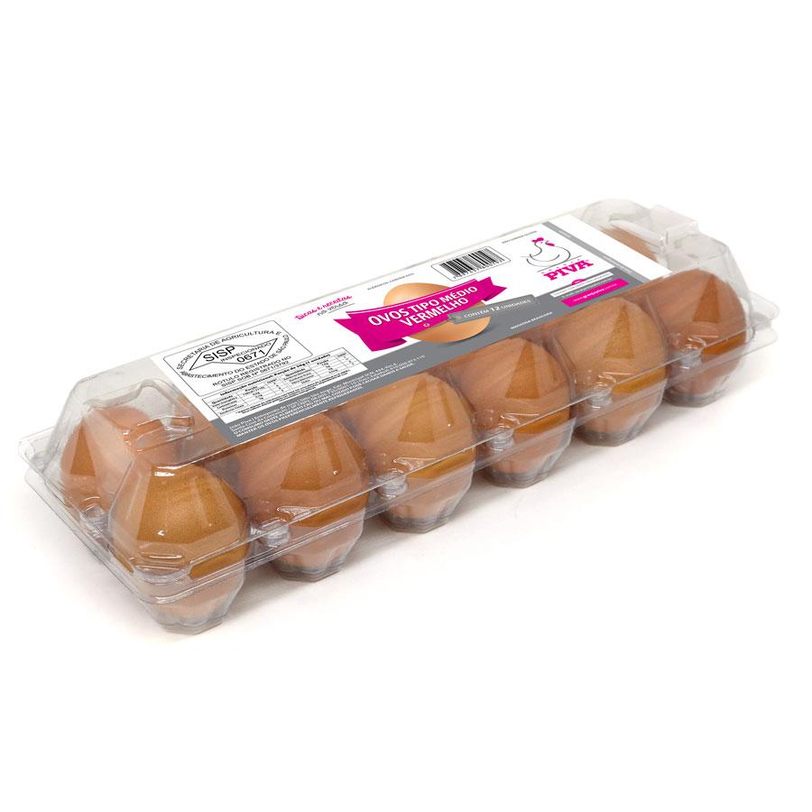 Ovos tipo médio vermelho